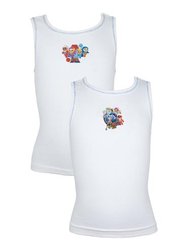 Boys Pack of 2 Go Jetters Cotton Vests (72389)