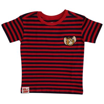 Boys Tom and Jerry T Shirt - Stripped Jerry Design (76997)