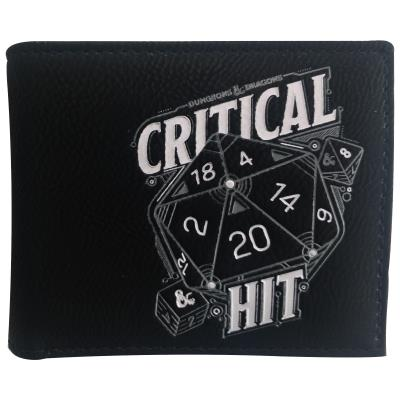 Dungeons and Dragons Wallet - Bifold Critical HIT Design (77009)