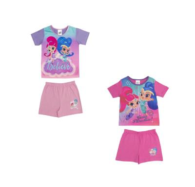 Girls 2 Pack Shimmer & Shine Shortie Pyjamas (74720)