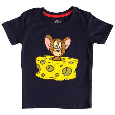Boys Tom and Jerry T Shirt - Jerry in Cheese Design (76998)