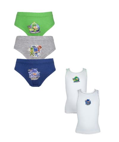 Boys PJ Masks Pants and Vest Underwear Set (72375)