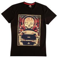 Men's Sony Playstation Gaming Skull T-Shirt